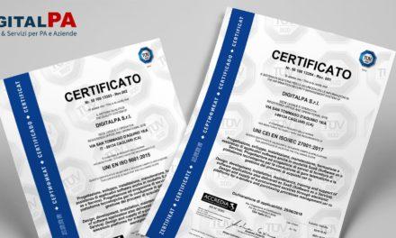 Qualità e sicurezza: ISO 9001 e ISO/IEC 27001