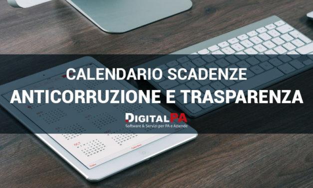 Calendario Scadenze 2019/2020 Anticorruzione e Trasparenza