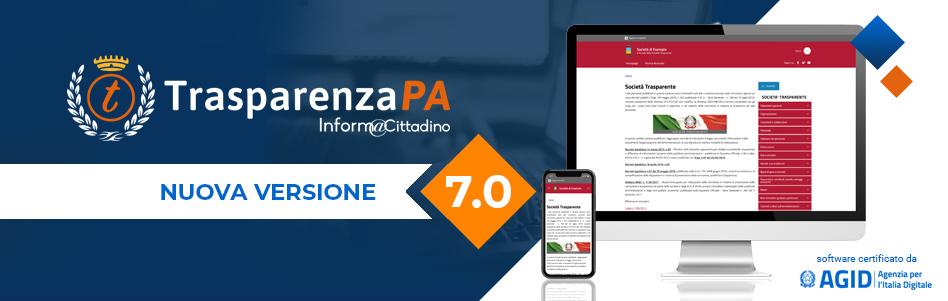 TrasparenzaPA si rinnova: nuova release 7.0 del software per la trasparenza amministrativa