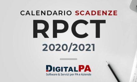 Calendario Scadenze 2020/2021 Anticorruzione e Trasparenza