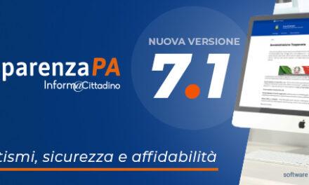 TrasparenzaPA: Versione 7.1 del software per la trasparenza amministrativa