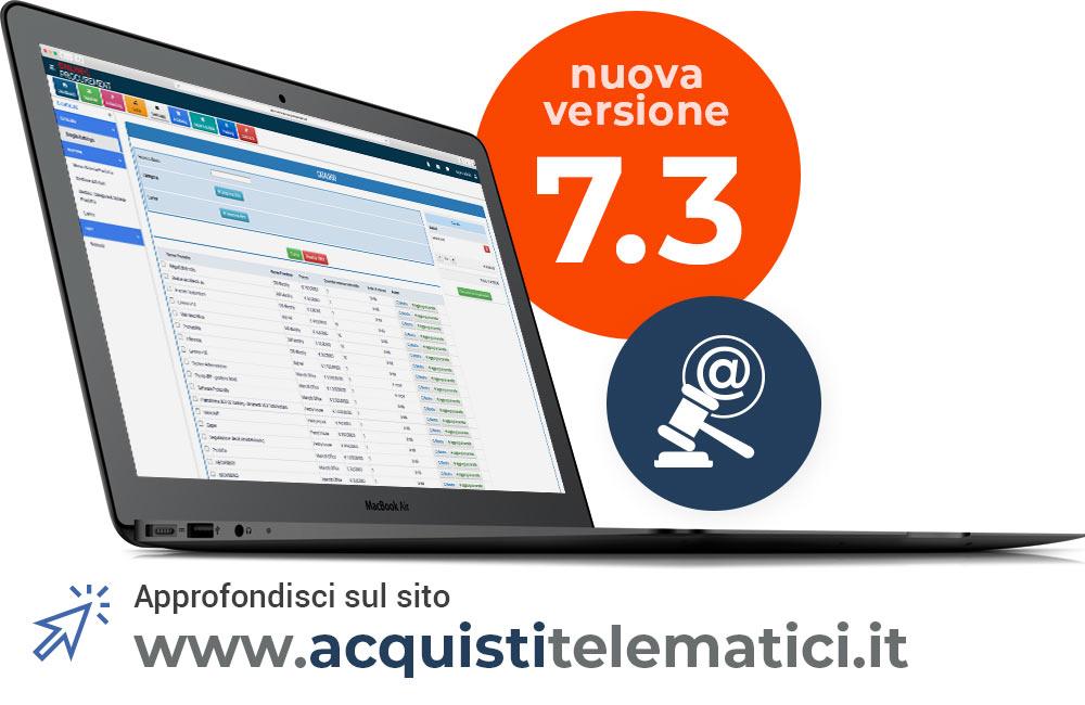 Screen Acquisti Telematici 7.3 su Laptop