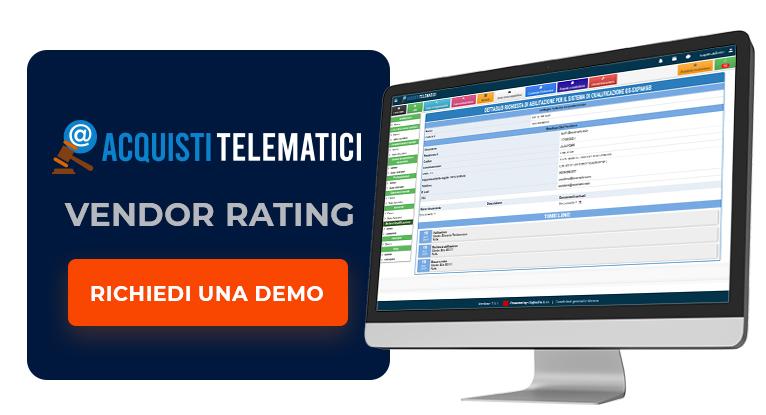 Richiedi una Demo del Vendor Rating di Acquisti Telematici
